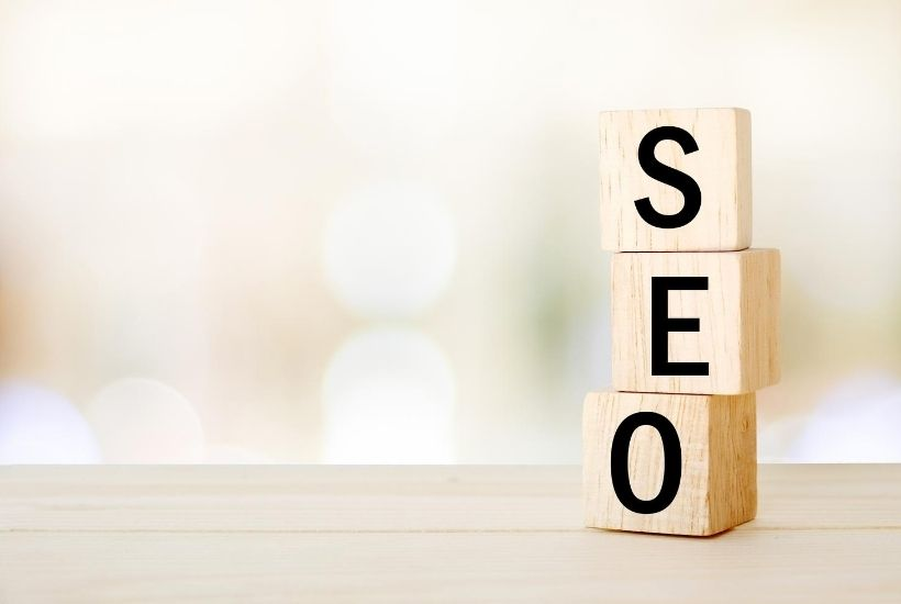 Blocks of letters SEO